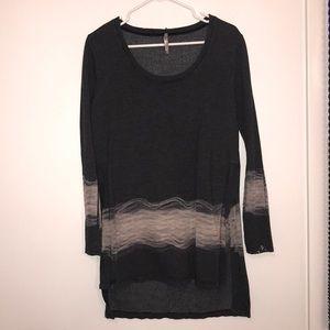Dark Grey TyeDye Sweater